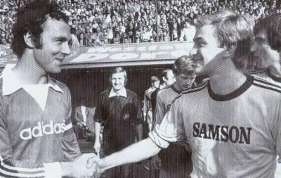 Helmut Nerlinger mit Franz Beckenbauer