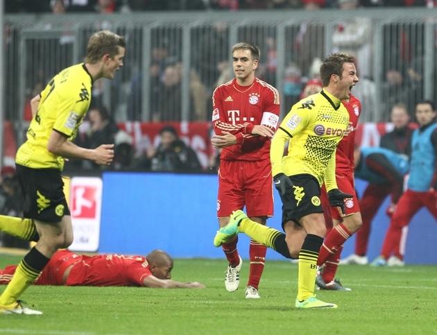 Götze erzielt den Siegtreffer gegen die Bayern