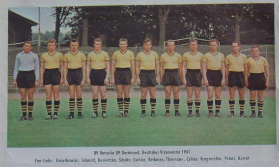 Der Vizemeister 1961 - BVB