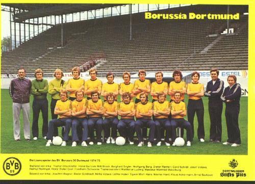 Die BVB-Mannschaft 1974/75