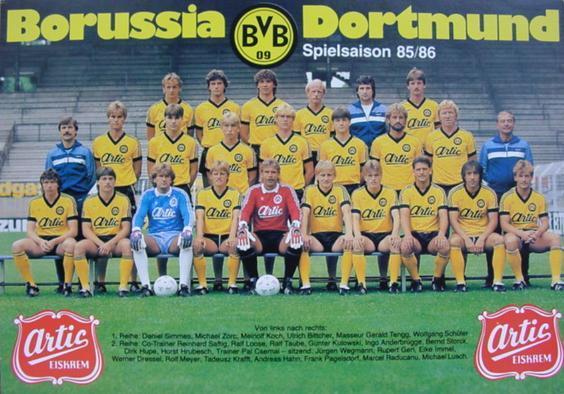 Die BVB-Mannschaft 1985/86