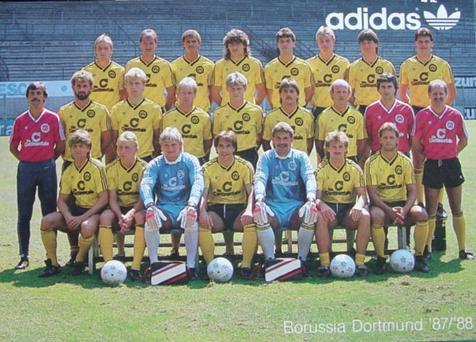 Die BVB-Mannschaft 1987/88