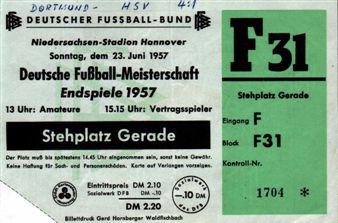 Die Eintrittskarte zur Glückseeligkeit - Meisterschaftsendspiel 1957 in Hannover