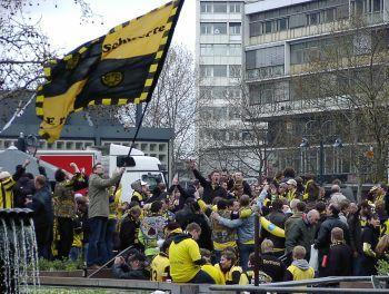 Die BVB Fans in Berlin
