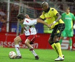 Langerak in goal against Essen
