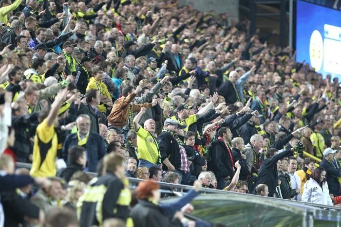 Sitzplatzfans in Dortmund