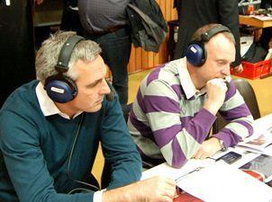 Stephan Baeck und Buschi bei der Arbeit