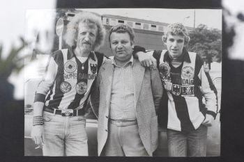Budde mit seinem Vater und Sami (Vorsitzender Wittener Wölfe) 1981 in Berlin