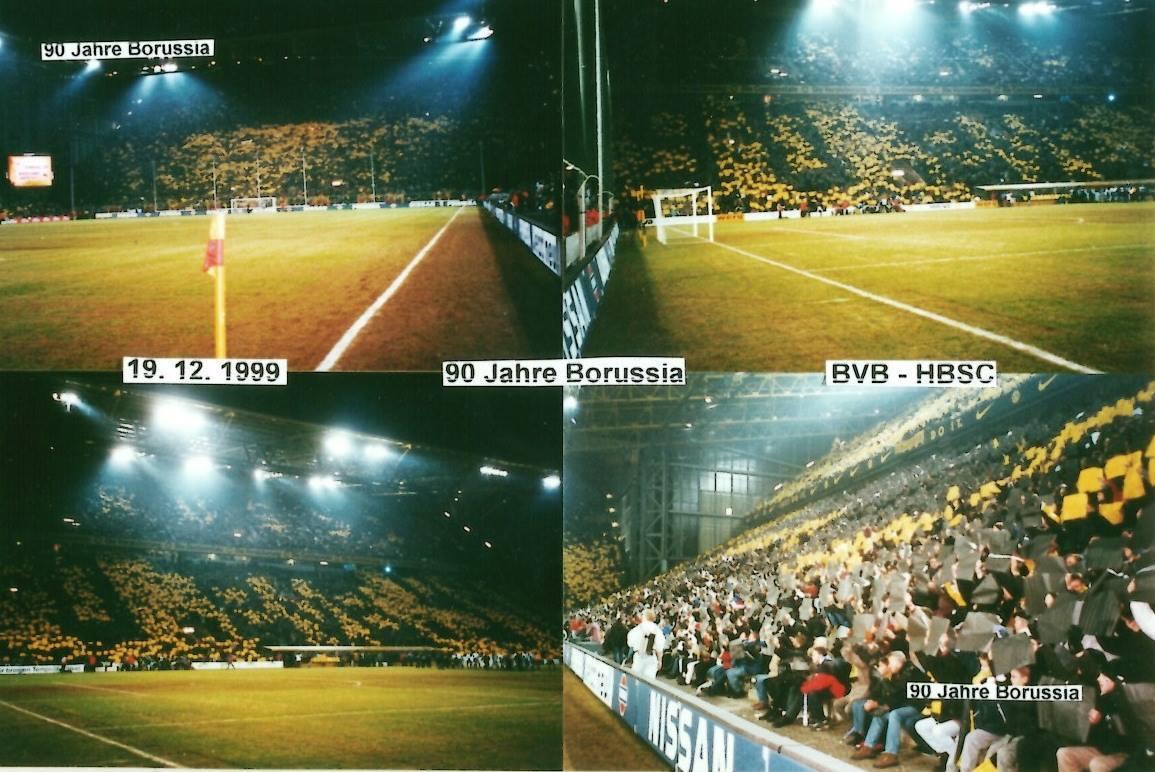 90 Jahre BVB-Choreo gegen Hertha 1999
