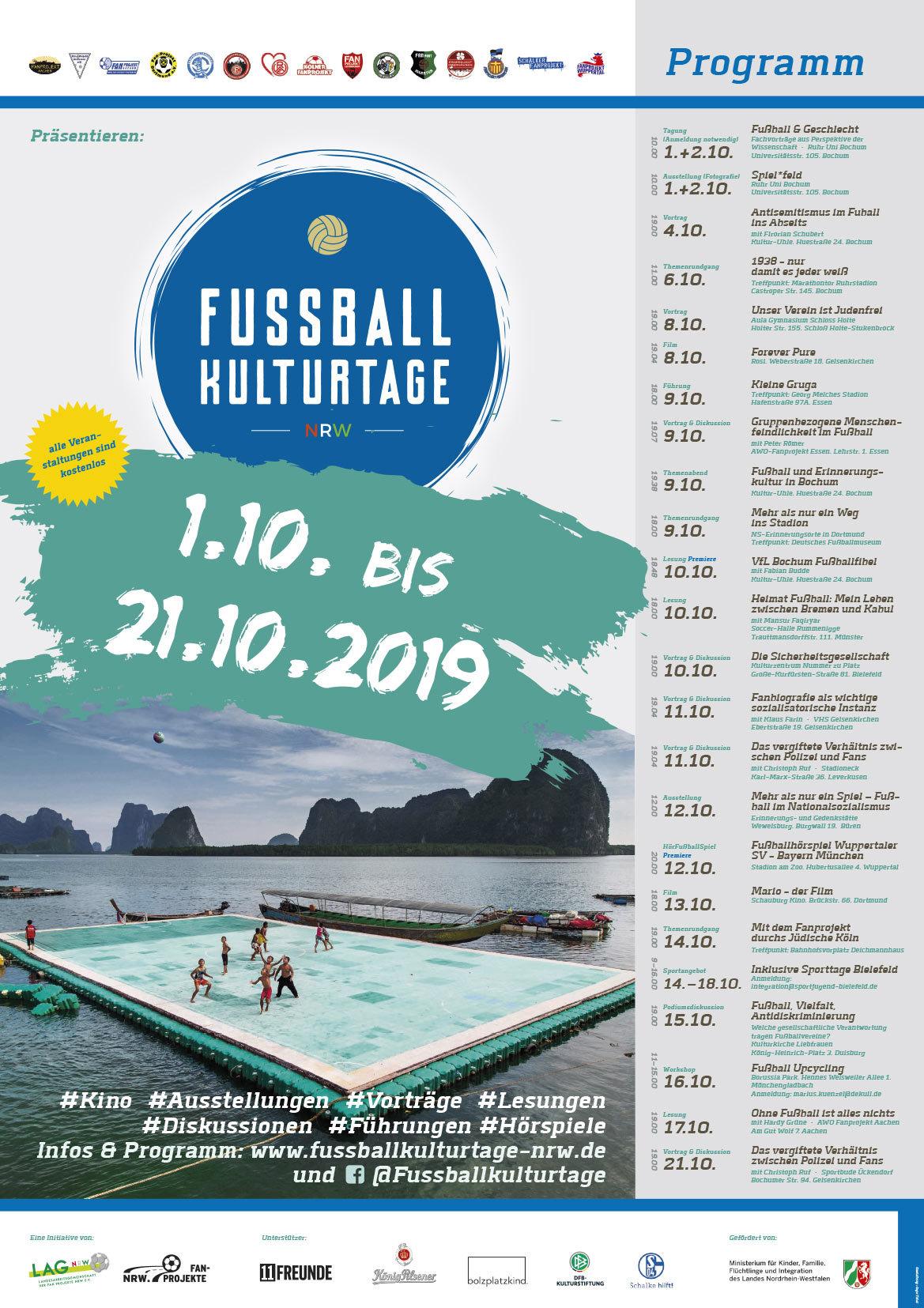 Das Programm der Fussballkulturtage 2019