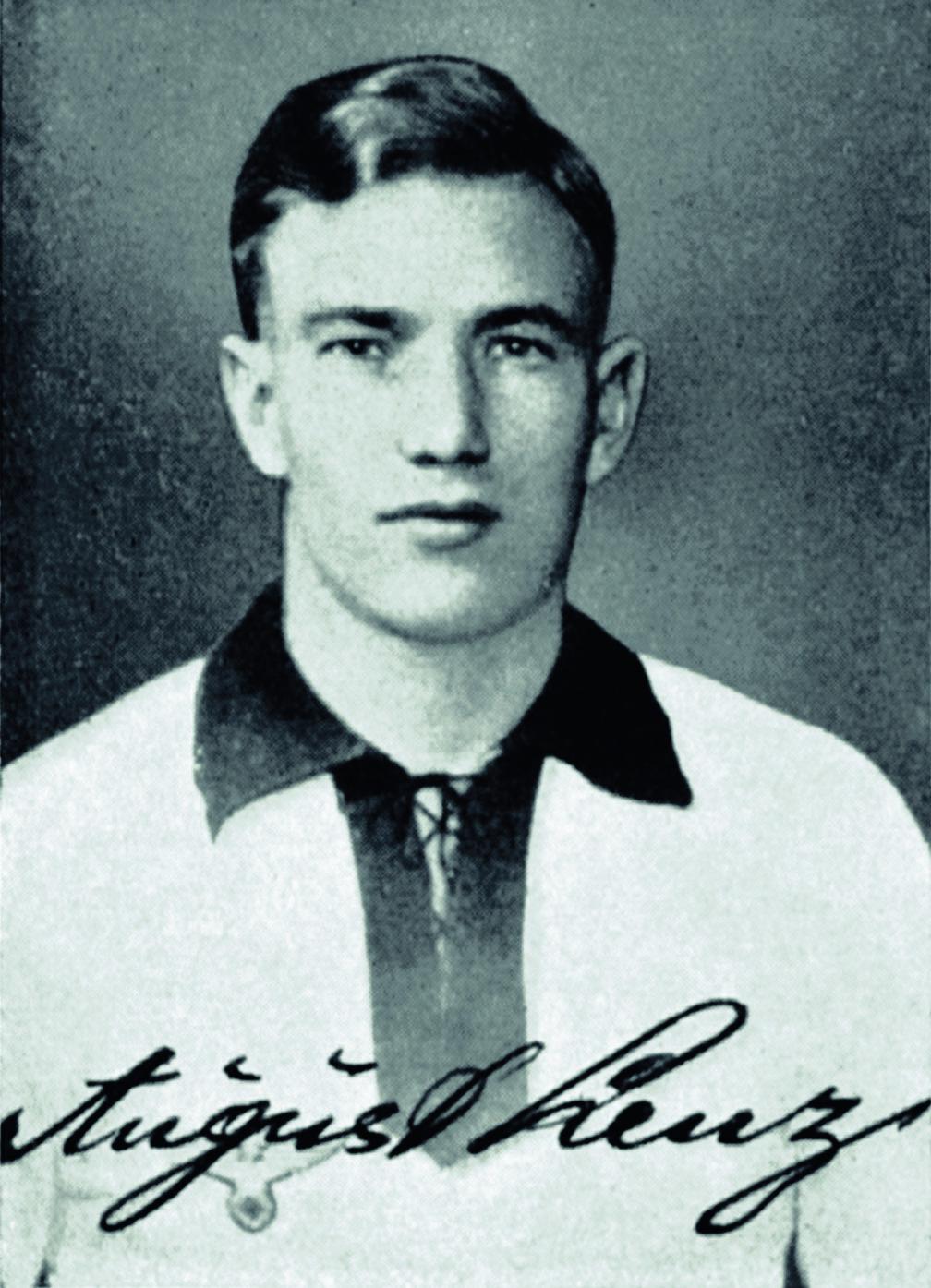 August Lenz auf einem Kicker-Sammelbild.