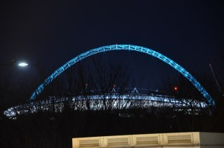 Macht aus nah und fern einen schicken Eindruck, wird aber sicher nicht mehr der Lieblingsort des BVB - das Wembley Stadium.
