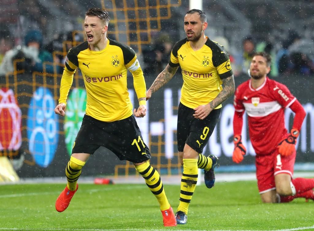 Marco Reus bejubelt seinen Führungstreffer zum 1-0