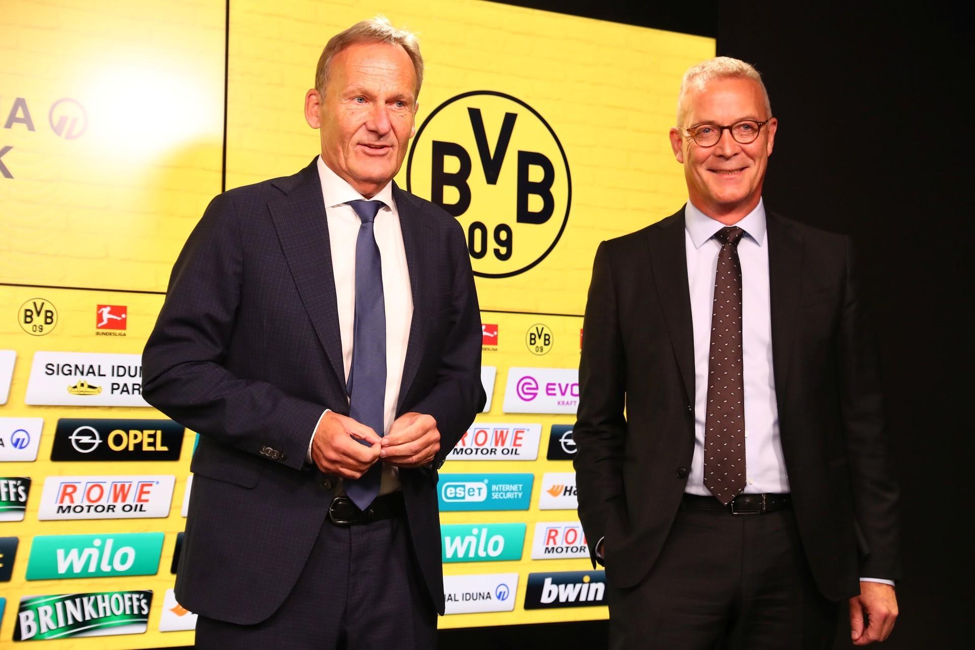Waren mit den Zahlen zufrieden - Die Geschäftsführer des BVB