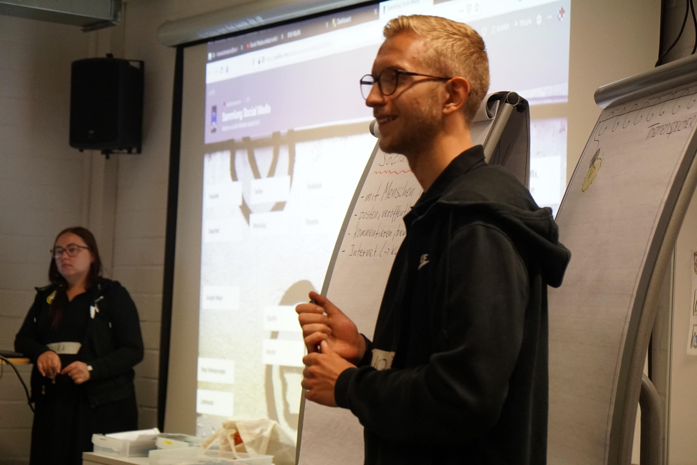 Ein Workshop im BVB-Lernzentrum.