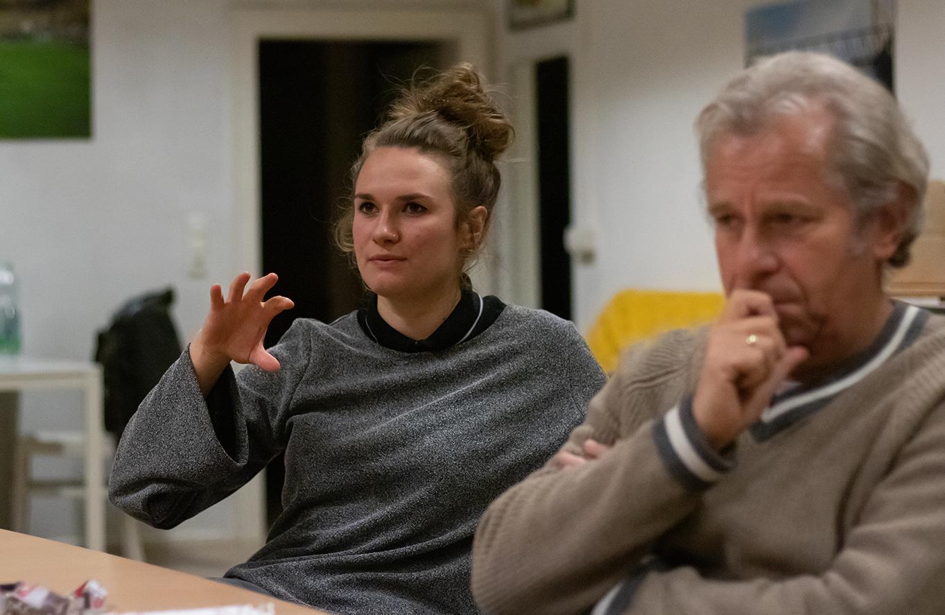 Stella Schrey hat 2020 im Fanprojekt Dortmund im Streetwork Team begonnen