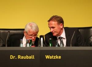 Rauball und Watzke beraten sich