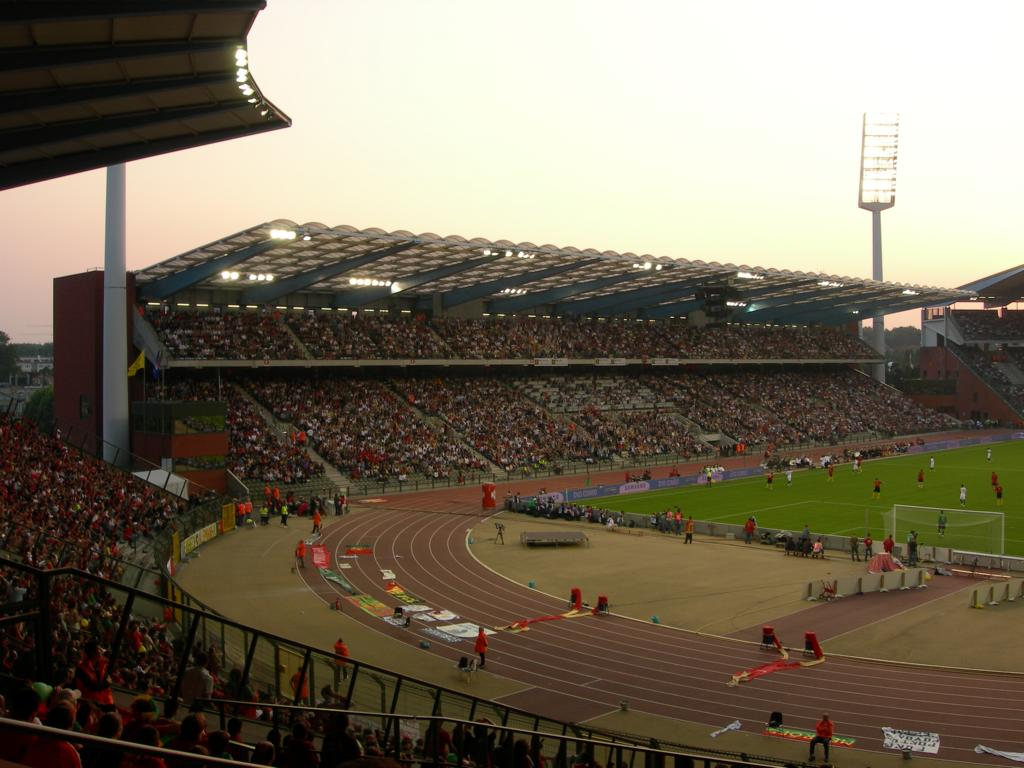 The biggest stadium in Belgium: 50,000 seats, the King-Baudouin-Stadium