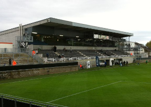 Controversial: the Kehrwegstadion in Eupen. Home of KAS Eupen