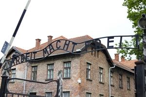 Eingangstor des Stammlagers Auschwitz I