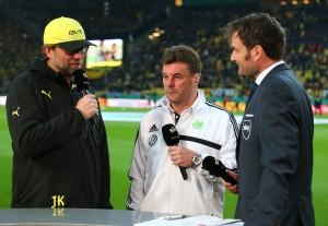 Jürgen Klopp und Dieter Hecking vor dem Spiel