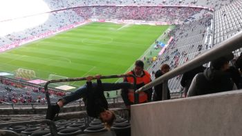 Security did not approve acrobatics in the stadium