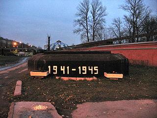 Gedenkstätte in Krasnenkoe Friedhof