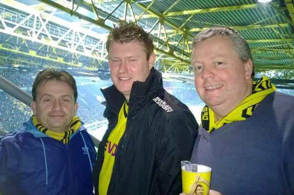 Paul, Chris und Simon im Westfalenstadion
