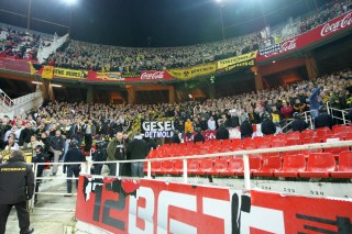 The supporters area in Sevilla