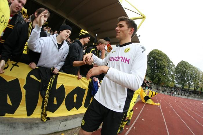 Johannes Focher nach einem Spiel der Amateure des BVB
