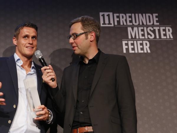 Sebastian Kehl im Gespräch mit 11Freunde-Chef Philipp Köster