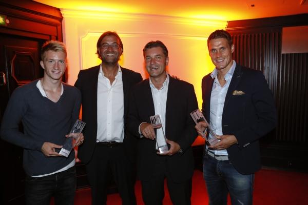 Die übrigen Dortmunder Preisträger: Marco Reus, Jürgen Klopp, Michael Zorc und Sebastian Kehl