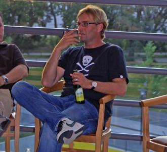 Mit Jürgen beim Bierchen diskutieren