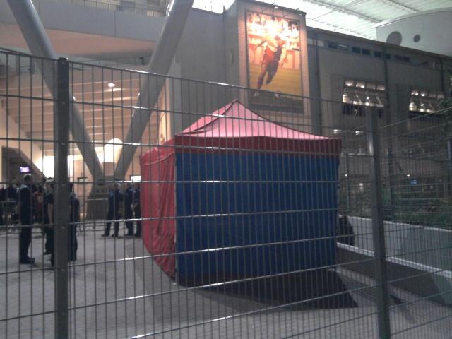 Zelt in Leverkusen