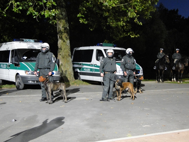 Gästeblock in Leverkusen