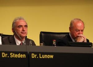 Dr. Lunow (l.) und Pieper wurden wieder gewählt