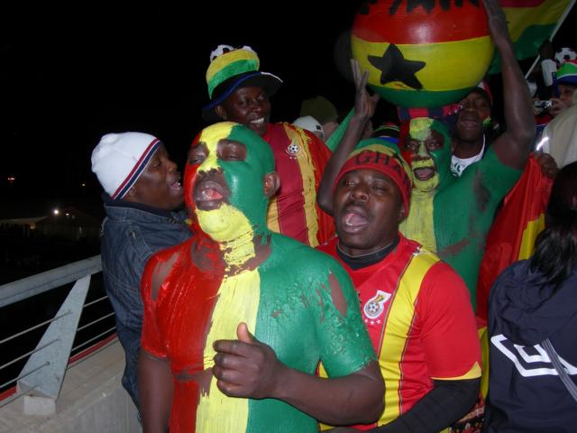 Black Stars Supporters dressed up in style