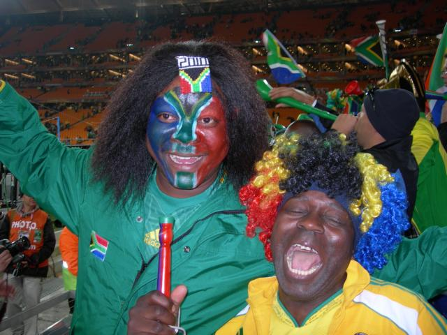South African Suporters at the opening match