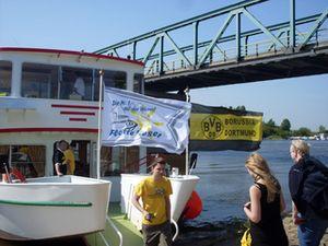Der deutsche Meister fährt Boot