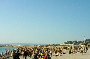 Dortmund Fans am Strand von Marseille