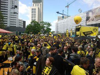 Gedächtniskirche Berlin beim Pokalfinale