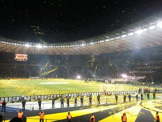 Siegesfeier im Olympiastadion