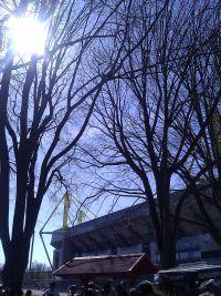 Sonne vor'm Stadion