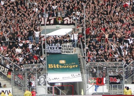 Photo zu Verfügung gestellt von Ultras Frankfurt