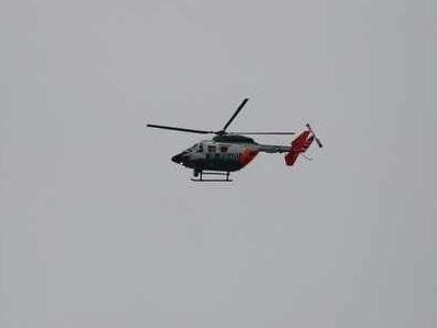 Polizeihubschrauber am Dortmunder Himmel