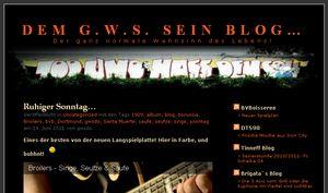 Dem G.W.S. sein Blog