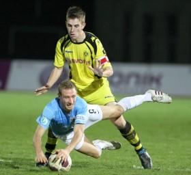 Uwe Hünemeier im Spiel gegen den FCI