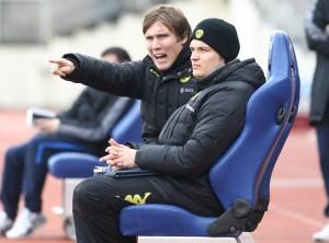 Hannes Wohl versucht seine Mannschaft zu lenken