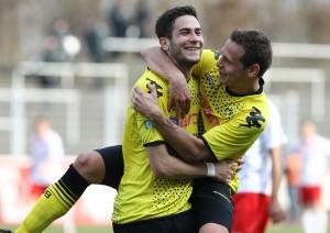 Matchwinner Vrancic mit Kollege Bakalorz
