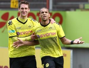 Terrence Boyd bejubelt das 3-0 für den BVB II